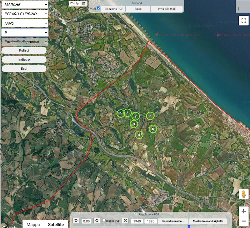 Punti fiduciali su Google Maps